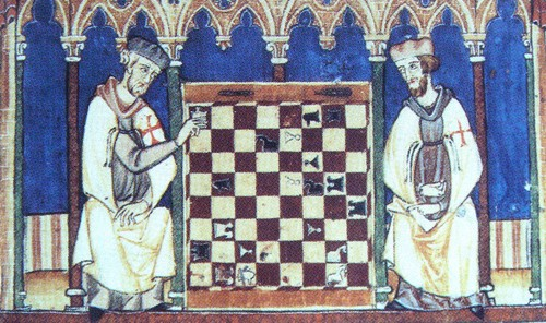 Knights Templar Playing Chess, 1283 AD