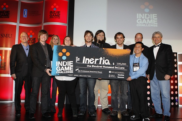 Team Hermes student developers from SMU Guildhall win $100,000 grand prize at D.I.C.E. Indie Game Challenge for game Inertia